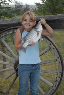 Youth with wiper fish caught at South Fork